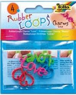 Folia Украшения LOVE Rubber Loops 4 шт., 4 цветов (33904) Folia